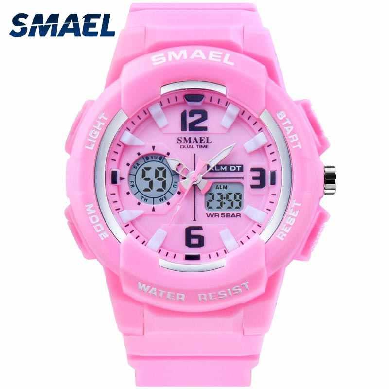 SMAEL ילדים דיגיטלי שעונים בני שעון גברים ספורט שעון עמיד למים ילדים LED תצוגת relogio1643 ילדים שעונים דיגיטלי בנות