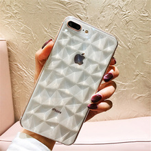 7 Lovebay Textura do Diamante Caso para IPhone 6 6 s 7 8 Plus X Macio Tampa Do Telefone para O Iphone de Luxo caixa transparente Ultra Fino Coque