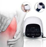 Бесплатная доставка 650nm лазерный и светодиодный колено уход аппарат электрический терапии для ускорить циркуляцию к исцелению и массажер