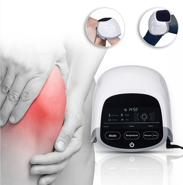 Free shipping 650nm Laser and led Knee Care apparatus Electric Therapy For Accelerate Circulation To Healing and Massager