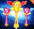 21*28 cm Hermosa varita mágica con la luz de proyección de la música Juguetes
