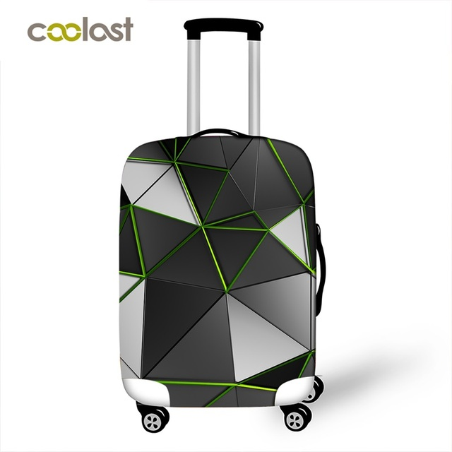 Geometric Travel Bag Cover – Patchwork Suitcase Protective Cover