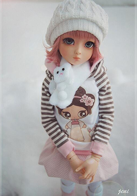 HeHeBJD 1/4 Girl Dami bjd (open eyes or ELF eyes)  beautiful girls for sale free shipping 4