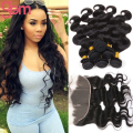 Malaysian Body Wave with Frontal Closure VIP Beauty Malaysian Virgin Hair 3 Bundles with Full Lace Frontal Moda Human Hair Weave