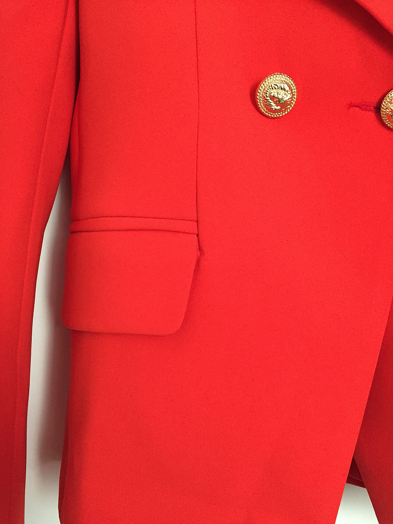 New Fashion Red Blazer Woman Spring Autumn 2019 Office Elegant Women's Jacket Long Sleeve Double Breasted Pocket Buttons Blazer