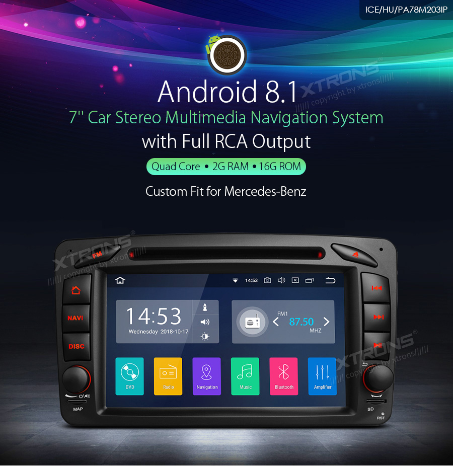 """Sale 7"""" Android 8.1 RCA Car Multimedia DVD Navigation GPS"""