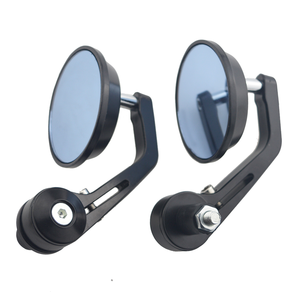Round 7/8 Handlebar Aluminum Alloy Motocycle Rearview Mirrors Moto End Motor Side Mirrors Motorcycle Cafe Racer Accessories