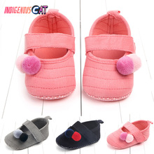 2019 Brand New Cotton Baby Girls Shoes Infant First Walkers Toddler Kid Bowknot Soft Anti-Slip Crib 0-18 Months
