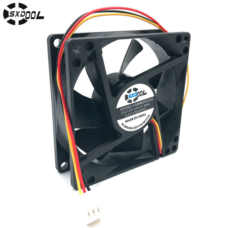 40-80mm 2P//3P DC 12V Desktop PC Computer Case Cooling Fan Cooler Components