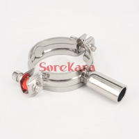 22mm 304 Stainless Steel Sanitary Pipe Clamp Clips Support Tube bracket