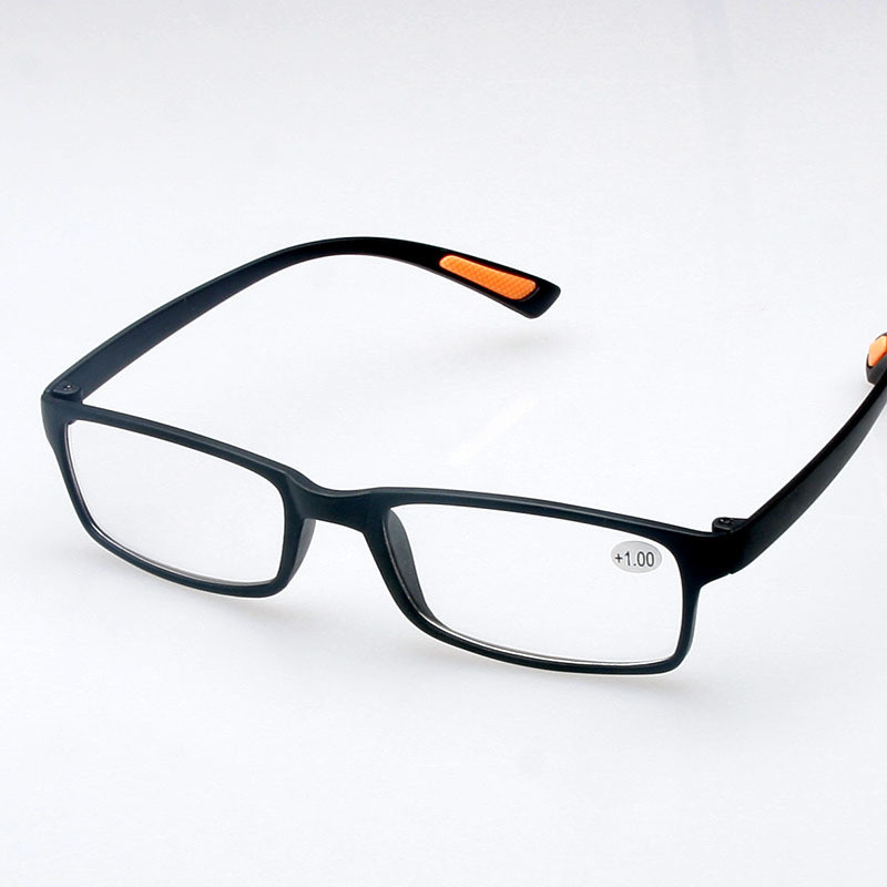 black soft tr90 light reading glasses resin frame