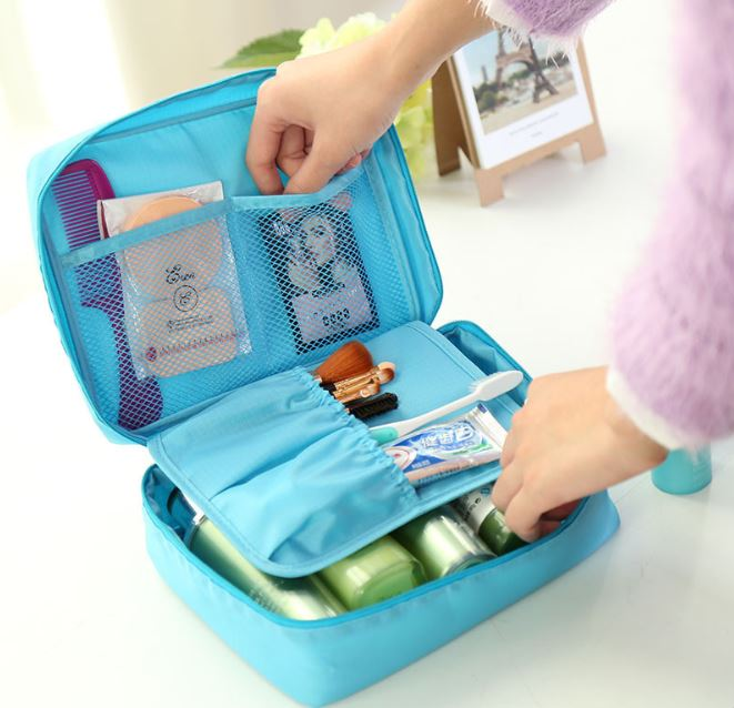 Maternity Mother Portable Toiletry Bag Cosmetic Make Up Organizer Case Hanging Travel Wash Bags Mummy Diaper Nappy Bag
