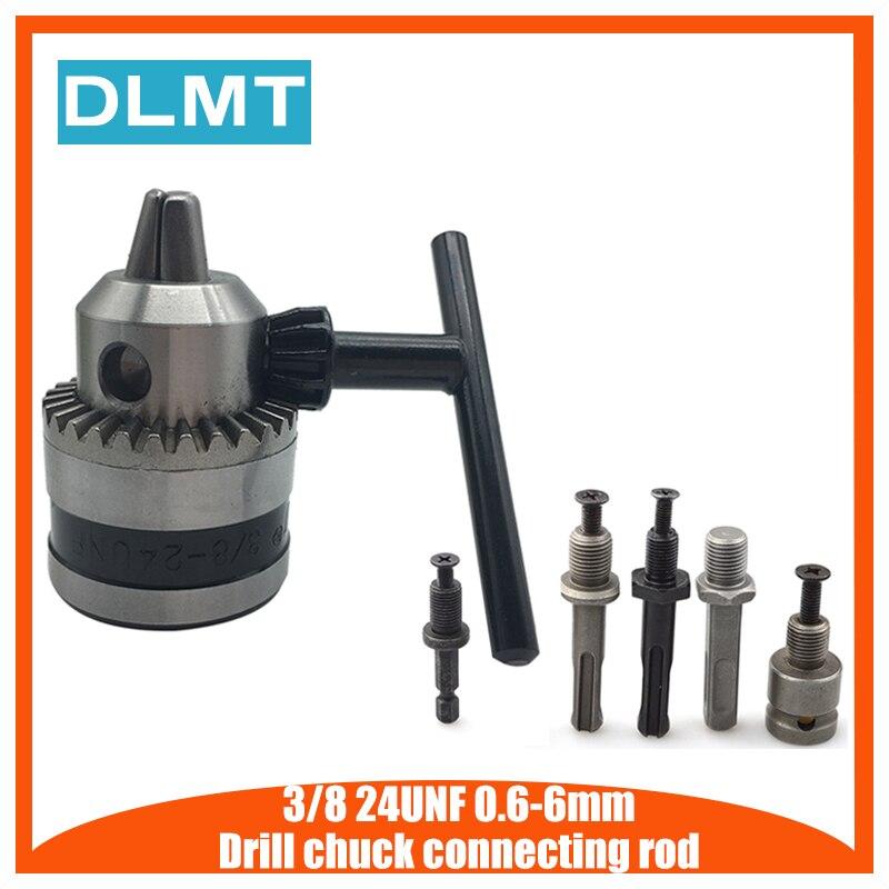 0,6-6 мм преобразователь сверлильного патрона 3/8 дюйма 24UNF с шестигранным хвостовиком диаметром 1/4 дюйма