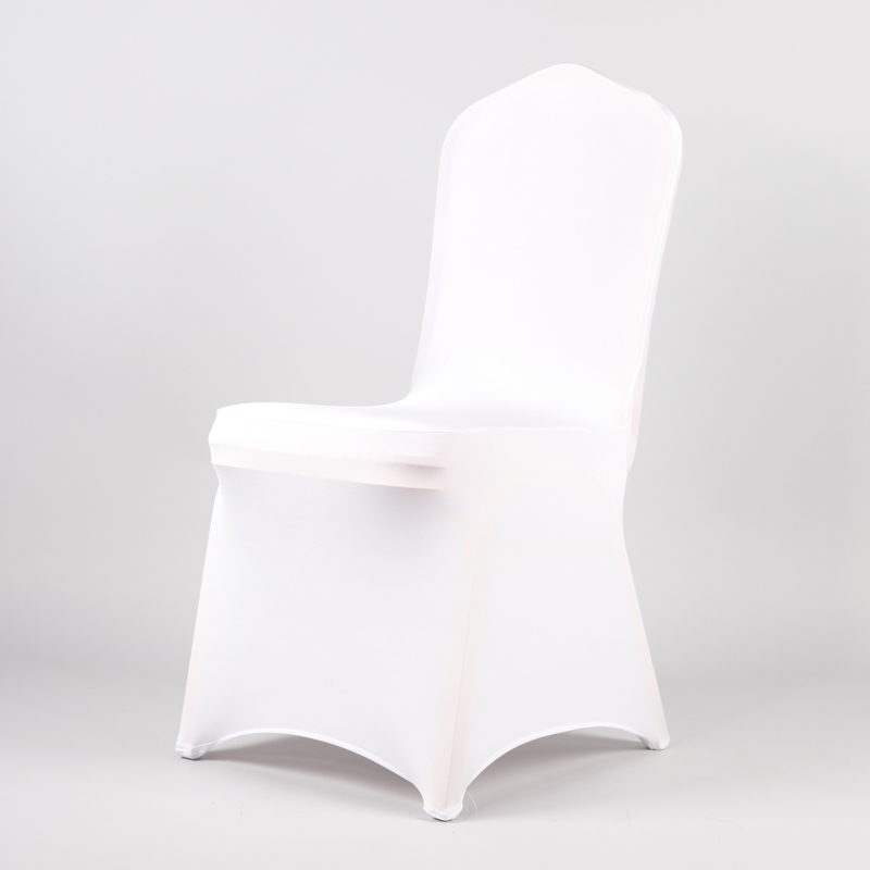 50Pcs 100Pcs White Wedding Spandex Chair Cover Stretch Cheap Universal Lycra Chair Covers Christmas Party Banquet Hotel Decor image