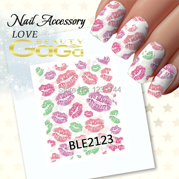 Stz 1sets 11 Designs Nail Art Diy Stickers Decals Water Wraps Beauty Love Valentine Gift Nails