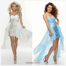 free shipping 2013 New Formal Party Prom Ball Evening Pageant Cocktail Dresses Wedding Gown short front long back prom dresses