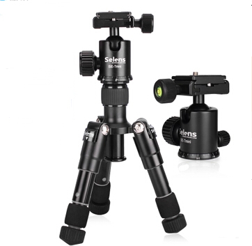 Selens SE-mini 46.5cm/18.2 black Tripod Monopod with ballhead protect bag light weight for DSLR camera travel trip shooting selens pro 100x100mm 12nd square medium