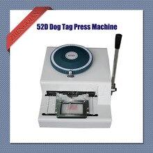 Manuelle Hundemarke embosser pressmaschine 52D zeichen