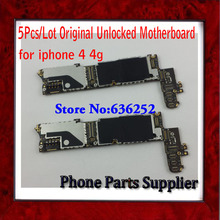100% Good Working Unlocked 16G Mainboard For iphone 4 4G Motherboard Original with Chips Free Shipping & 5Pcs/Lot