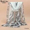Ladies SIlk Feel sCARVES Beach Shawls Chiffon Scarf Women's Fashion Links Patchwork  Prints Silk Scarfs Quality