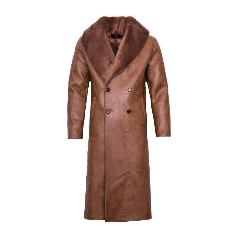 Long Hommes 002 3xl Manteau Haute 003 De Un Intégré Nouveau Grand M Des Fourrure Col Qualité Pour La 001 wHq7Xn1nB