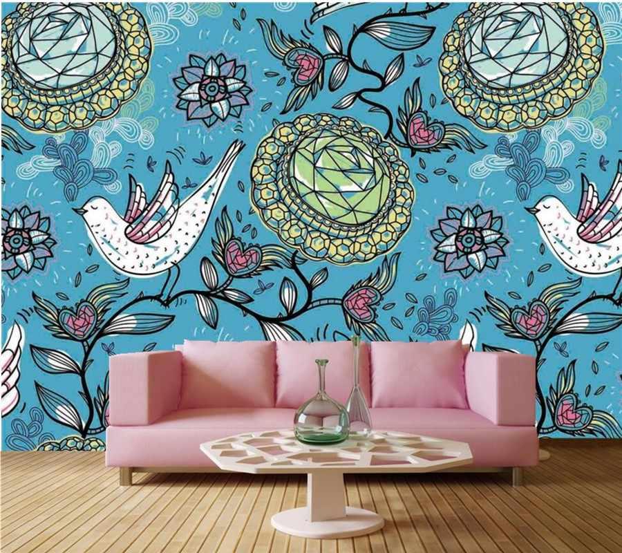 Tùy chỉnh 3d wallpaper bức tranh tường, european sáng tạo Đá quý Hoa nền nho, Living Room TV sofa tường Kids Room Papel de parede