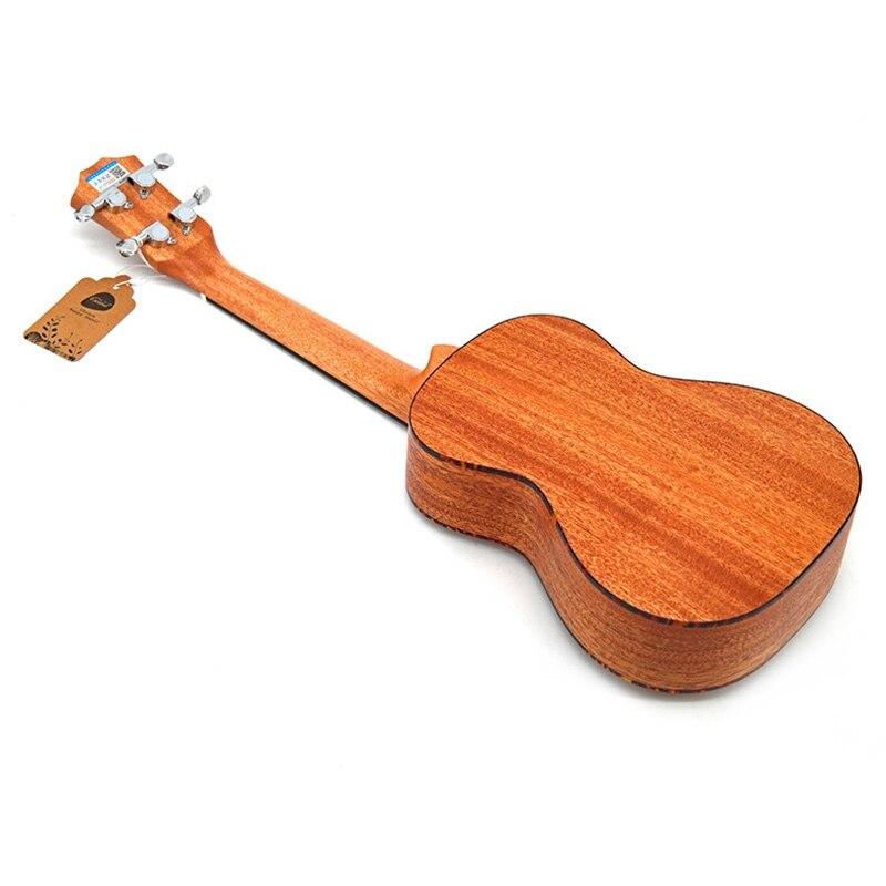 Kits de Concert ukulélé 23 pouces acajou Uku 4 cordes guitare avec sac accordeur Capo sangle pique pics pour débutant instrument Musical - 6