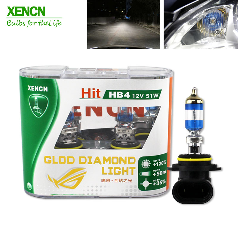 XENCN 12V 4300k Gold Diamond Replacement Car Headlight Halogen Auto Fog Lamps H1 H3 H4 H7 H8 H9 H10 H16 880 881 HB4 9006