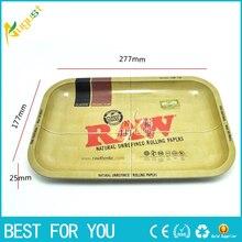 1 stück RAW eisen platte ablage Zigarette zubehör RAW roll trays 27,7*17,7 cm nützliches werkzeug