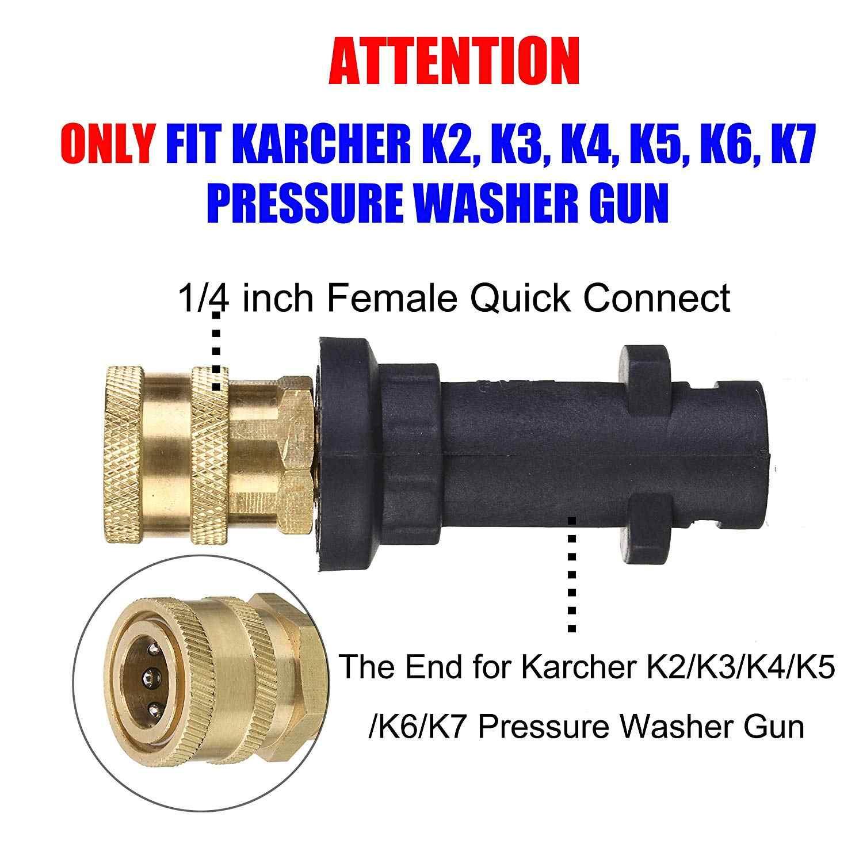 Hogedrukreiniger Pistool Adapter voor Karcher K Serie tot 1/4 ''Snelsluiting met Power Washer Spray Nozzle Tips
