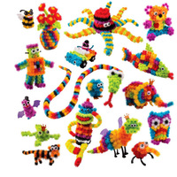400 Pcs Mega Pack Accessories DIY Magnetic Toys Animals Spot Best Building Blocks Educational Toys For