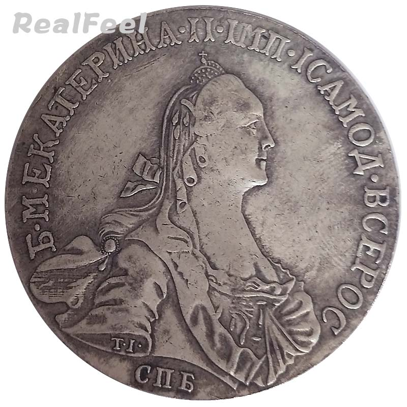 Russian old replica coins COPY 1766 Queen Catherine II 1 Rouble double-headed eagle antique copper collectible coins