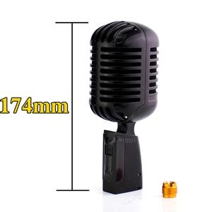 Image 3 - Micrófono Vintage dinámico Vocal profesional de Metal para Karaoke, altavoz, estudio de grabación, KTV, Jazz, controlador de escenario, amplificador