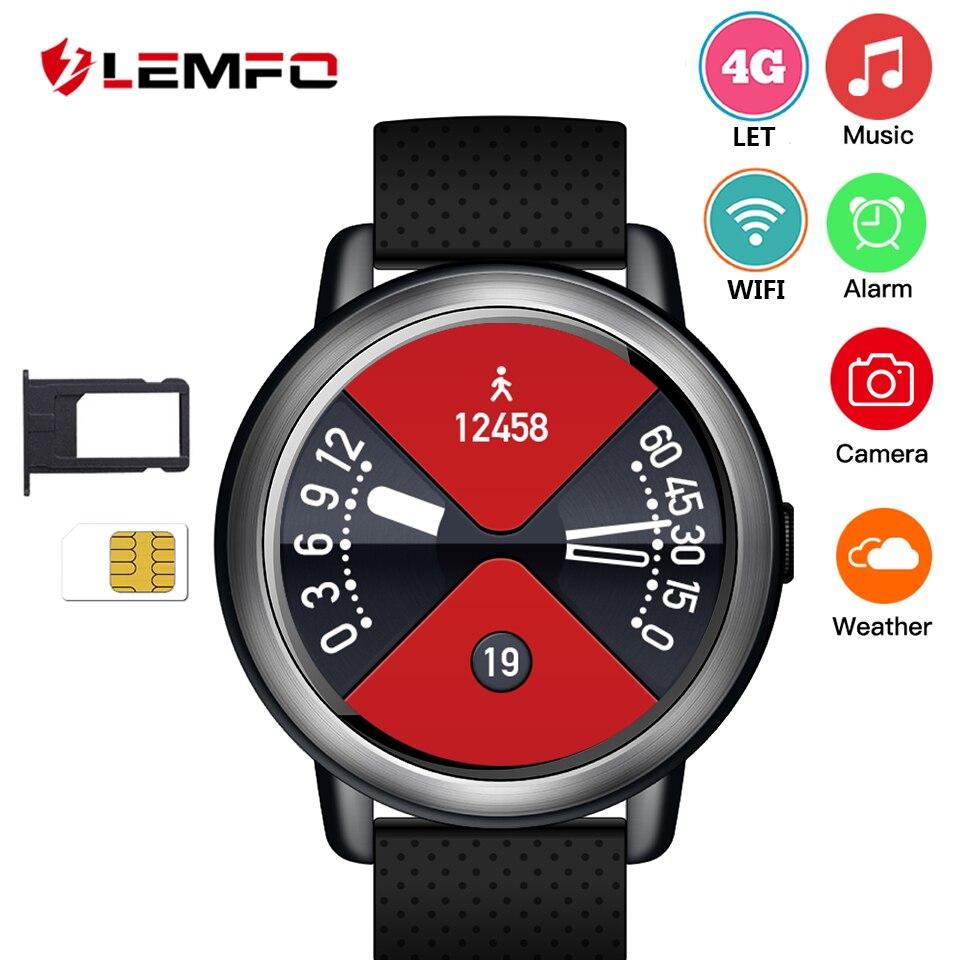 LEMFO LEM8 Smartwatch Android 7.1 LTE 4g Sim WIFI 1.39 pollice 2MP Macchina Fotografica GPS Frequenza Cardiaca IP67 Impermeabile Intelligente orologio per le Donne Degli Uomini