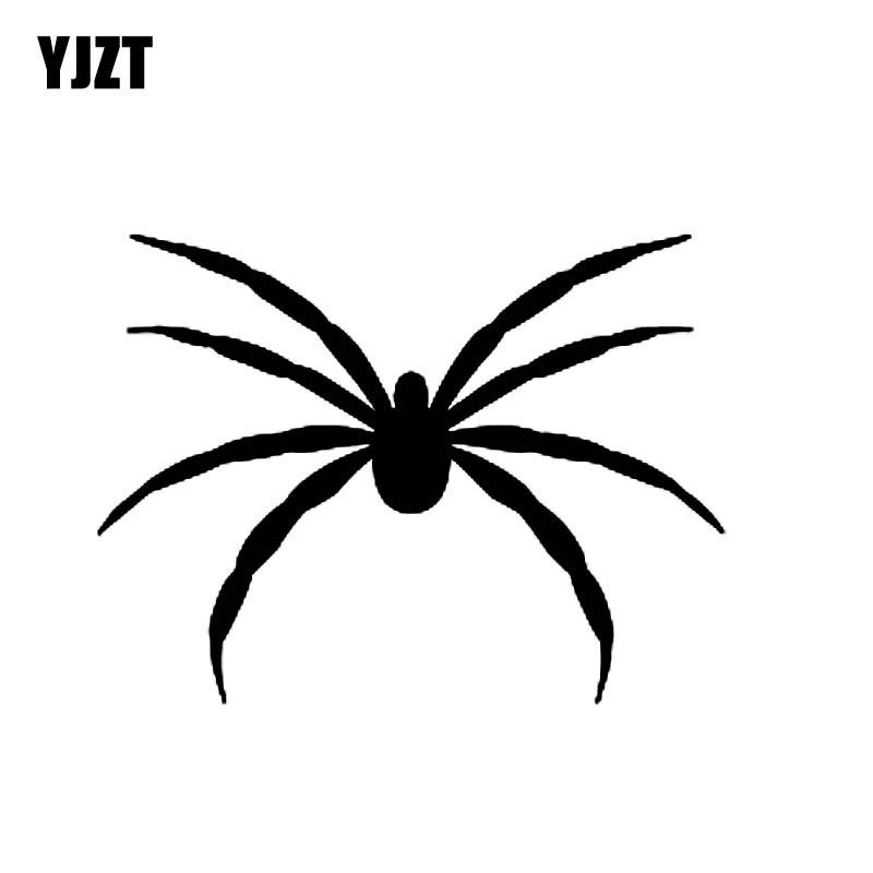 YJZT 15.2CM*11.5CM Spider Scarey Spooky Halloween Vinyl Decal Art Car Sticker Black/Silver C19-0278