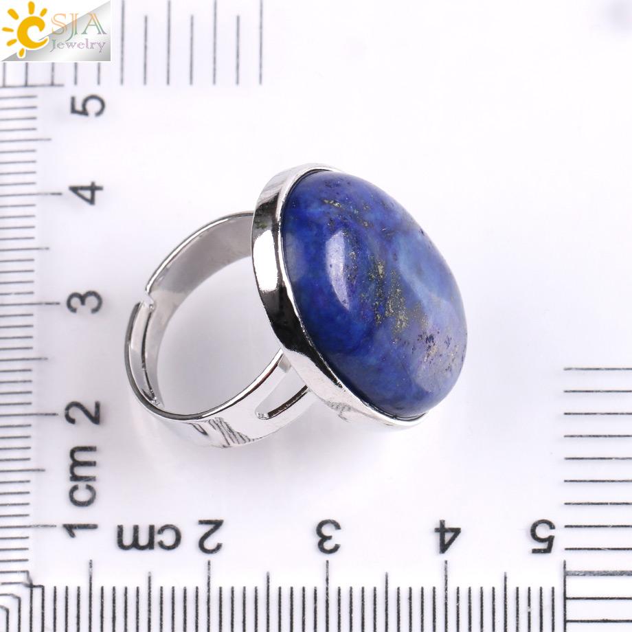 Кольцо csja reiki с натуральным драгоценным камнем для мужчин