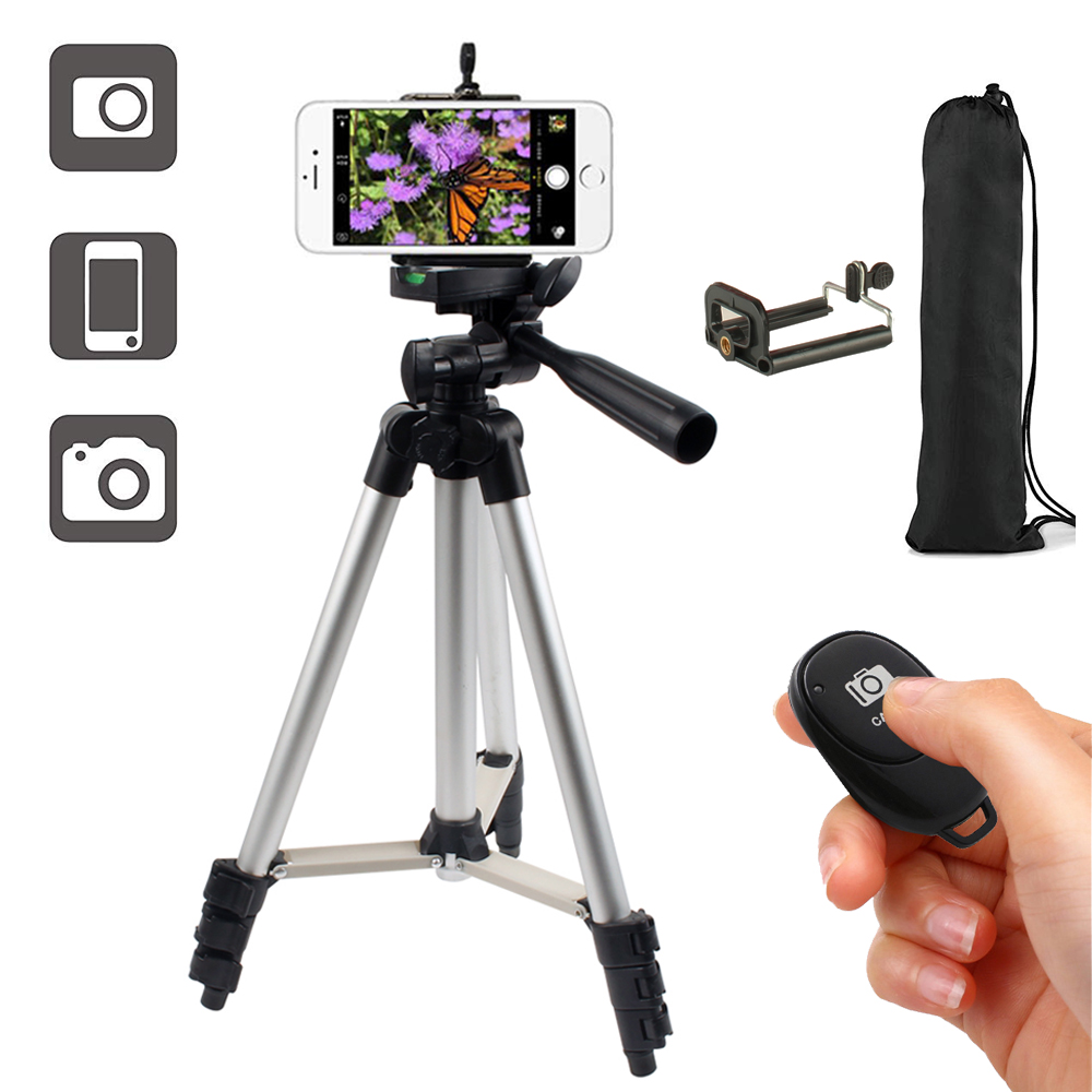 Tripod <font><b>Smartphone</b></font> Mount Phone Holder for P10 P20 <font><b>P30</b></font> Pro <font><b>Lite</b></font> P Smart Z Y5 Y6 Y7 Y9 2019 Honor 8C 8X 7X 6X 7A 6C Black image