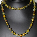 Yellow natural veins dragon agate stone jasper 10mm round beads necklace for women vintage style long chain jewelry 35inch B2922