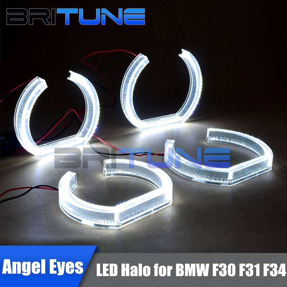 LED Angel Eyes Ring Halo DRL Acrylic DTM Style For BMW F30 F31 E92 E90 E93 E82 E60 E87 E81 M3 M4 M5 Headlight Accessories Tuning