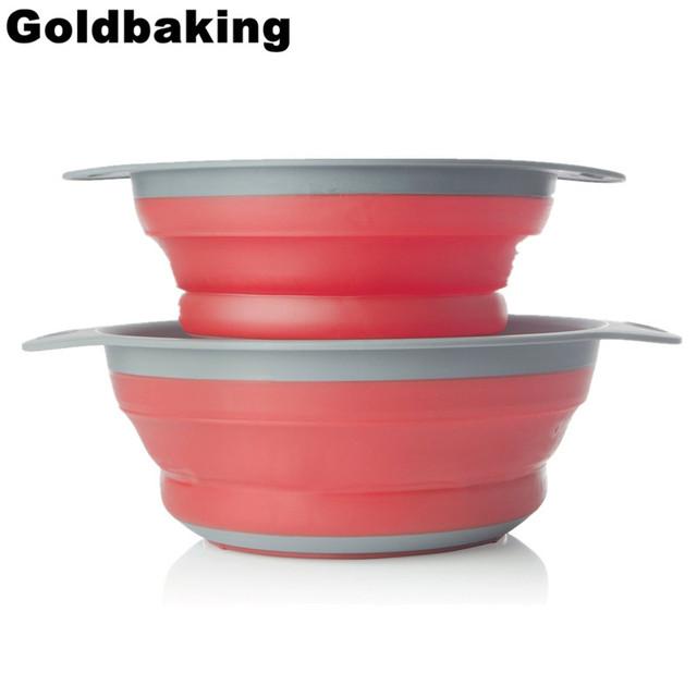Silicone kitchen utensils set Colander Folding