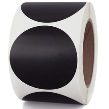 Smart Sticker Black Color Coding Dot Labels 2 Inch Round - 500 Colored Circle Stickers Per Roll