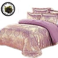 Silk Satin 100 Cotton Luxurious Bedding Sets 4 5 6 7pcs RU Size Discount Bedding Bedlinen