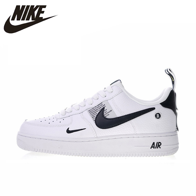 wholesale dealer 979b2 77acb ราคาถูก เดิมแท้ Nike Air Force 1 07 LV8 Utility Men รองเท้าสเก็ต