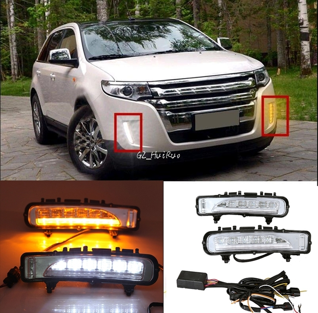 X Led Daytime Running Light With Yellow Turn Light For Ford Edge