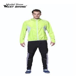 Image 5 - Ветровка велосипедная WEST BIKING с длинным рукавом, спортивная уличная куртка, ветрозащитная водонепроницаемая одежда
