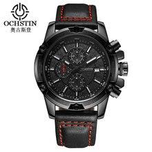 a3a914edf0f 2017 Mens Relógios Casual Quartz Militar Sports Relógio de Pulso Cronógrafo OCHSTIN  Top Marca de Luxo