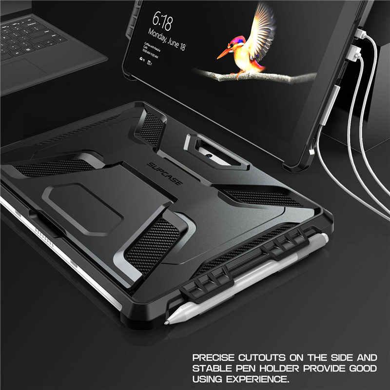 Para Surface Go Case 10 pulgadas 2018 SUPCASE UB PRO funda de cuerpo completo con soporte integrado y portalápices, Compatible con teclado