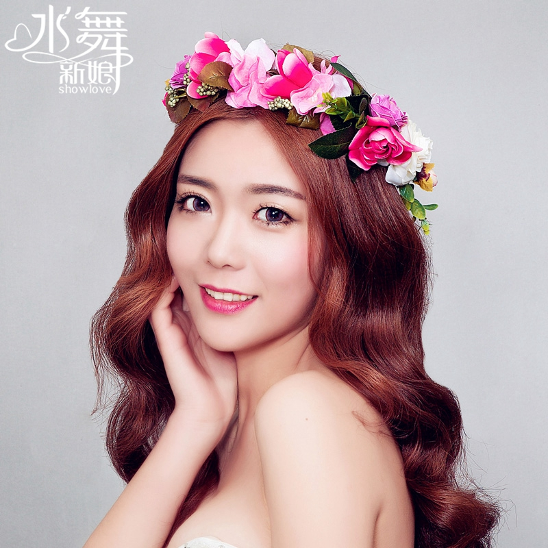 2015 hair accessories happy garland multicolor flower hair