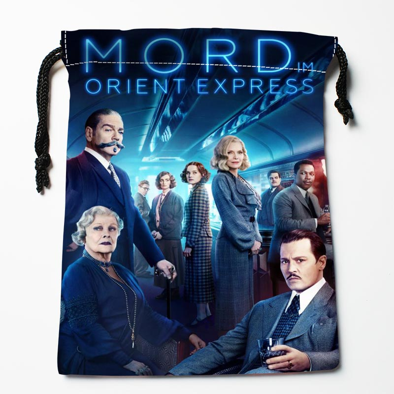Hot Sale Custom Murder On The Orient Express Drawstring Bags Custom Storage Bags Storage Printed Gift Bags More Size 27x35cm