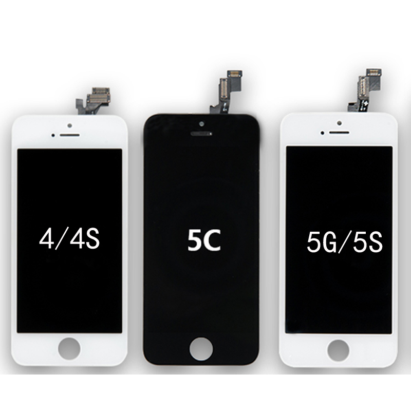 Wholesale High Screen For iPhone 4G 4S 5C 5 5G 5S LCD Display Touch Screen Digitizer